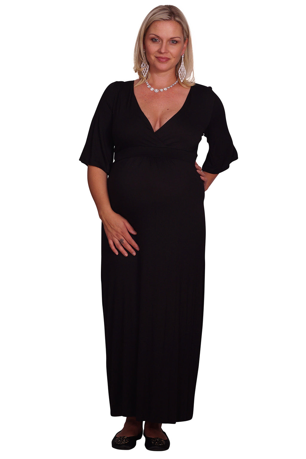 Plus Maternity Maxi Dress - Mommylicious