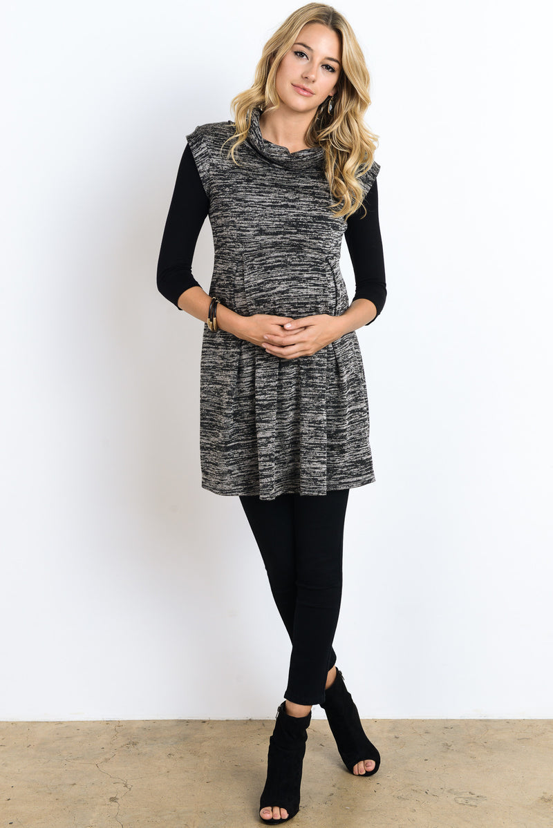 Cowl Neck Maternity Tunic - Mommylicious