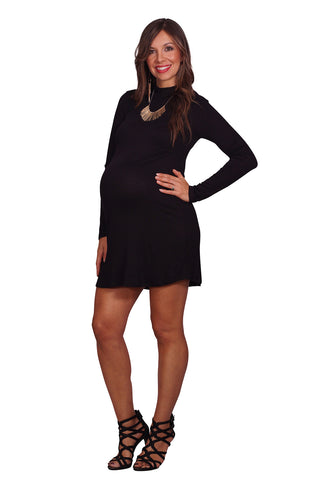 Black going out maternity dress