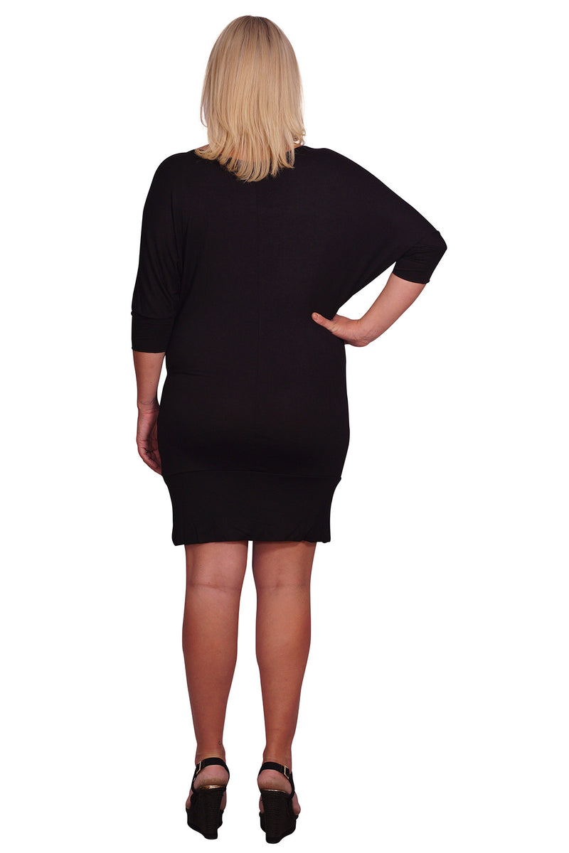 Plus Maternity Cowl Neck Bodycon Dress - Mommylicious