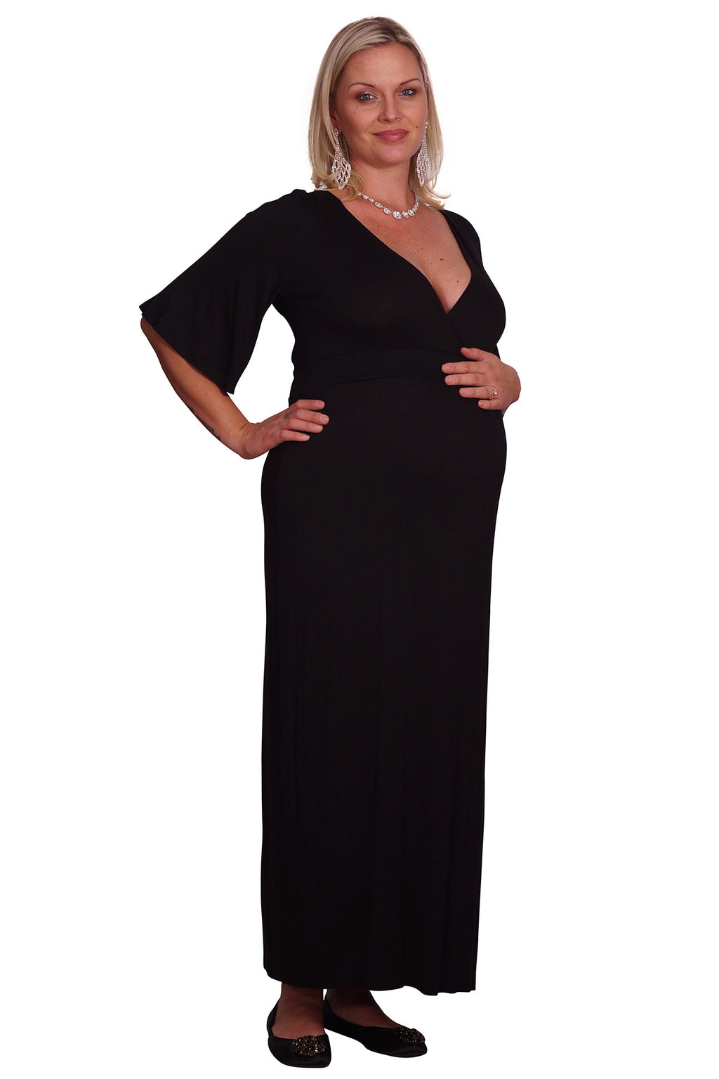 Plus Maternity Maxi Dress