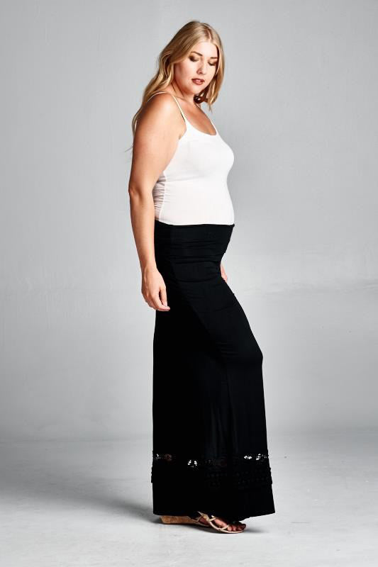 V.I.Peace Black Plus Maternity Pants - Mommylicious