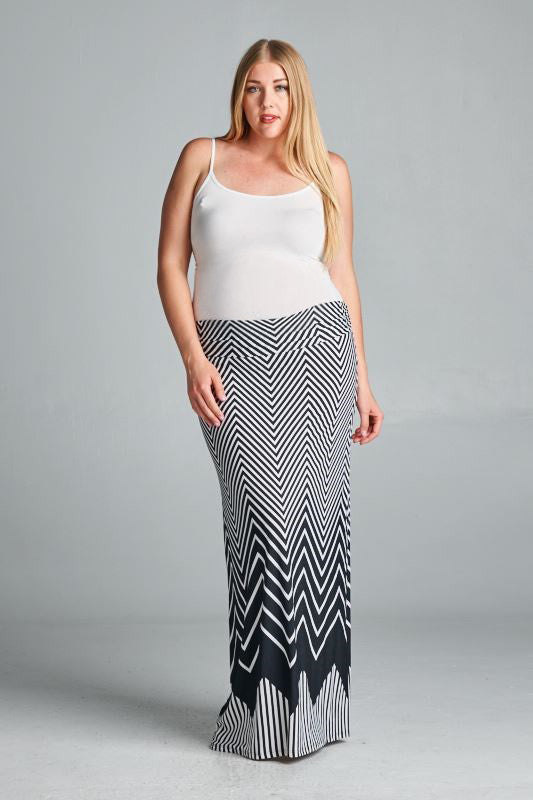 black plus size skirts
