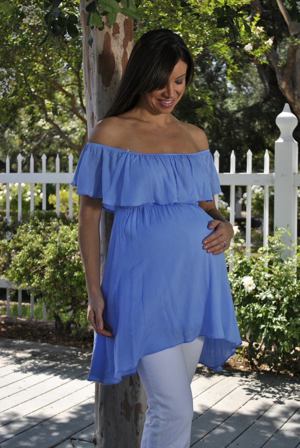 blue maternity clothes