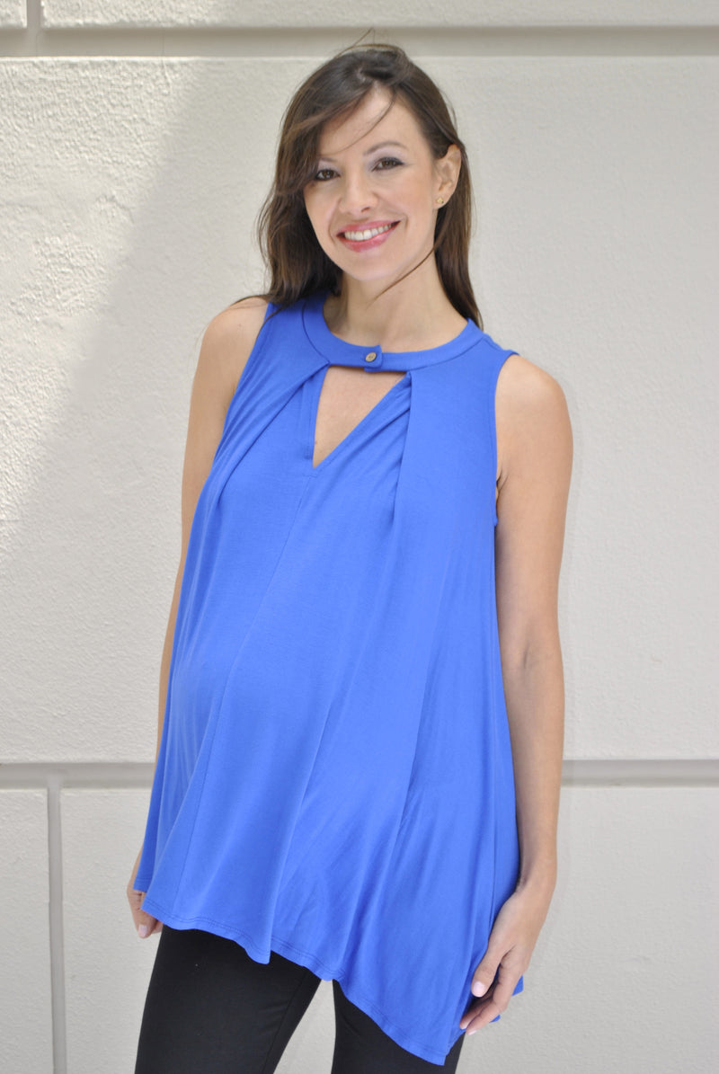 blue maternity tank tops