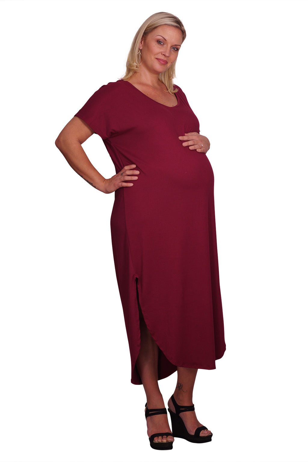 Plus Maternity Tee Dress - Mommylicious