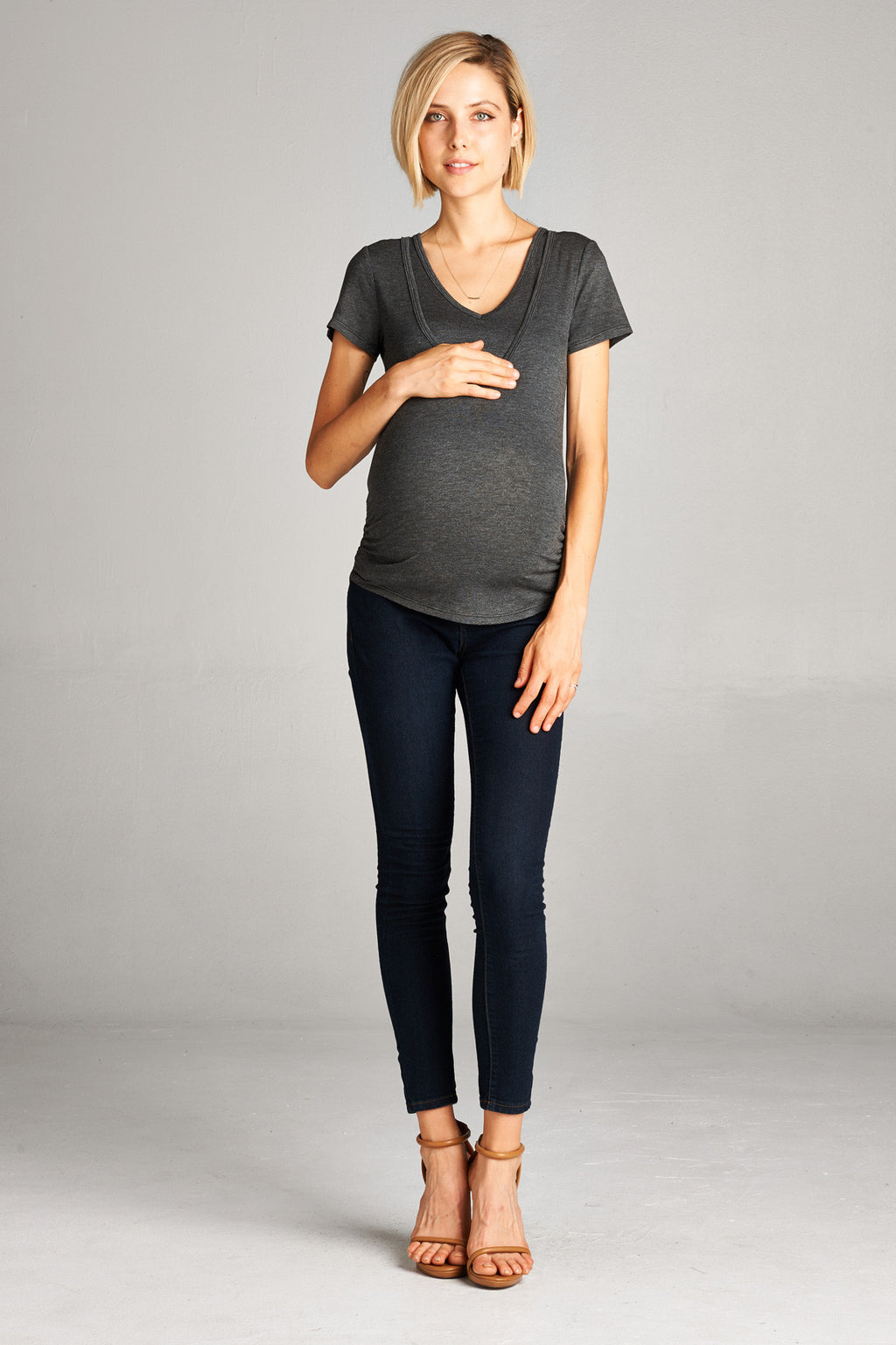 V-Neck Double Layer Nursing and Maternity Top - Mommylicious
