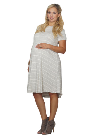 Little Striped Maternity Dress