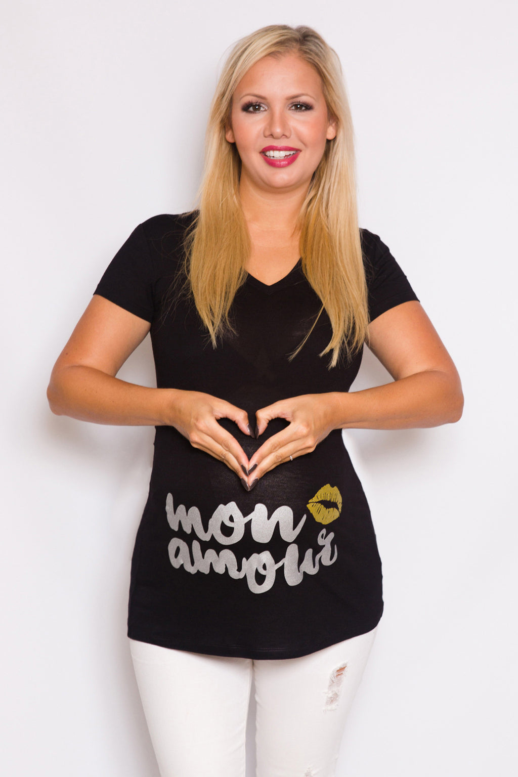 """Mon Amour"" Maternity Top - Mommylicious"