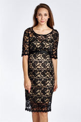 Floral Lace Maternity Dress