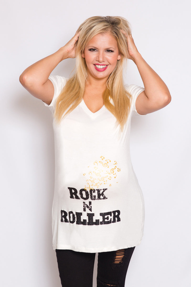 Rock N Roller Maternity Top - Mommylicious