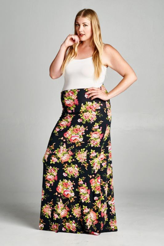floral maternity skirts