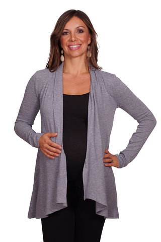 Draped Front Knit Cardigan