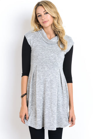 Knit Cowl Neck Maternity Tunic
