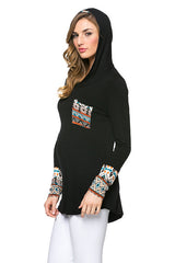 hooded maternity top