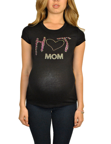 Plus Maternity T Shirts-Hot Mom!