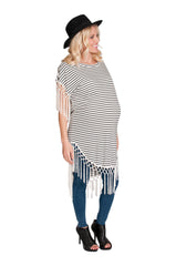 striped maternity shirt