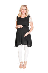 black maternity top