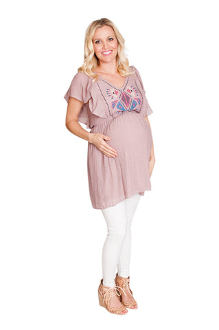 pink maternity top
