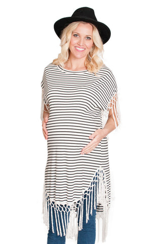 striped maternity tunic