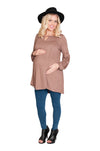 long sleeve maternity top