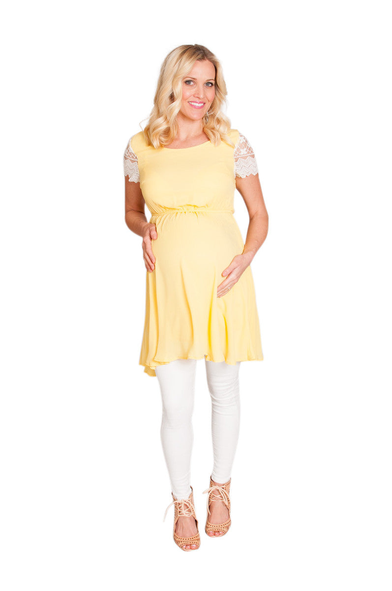 yellow maternity top