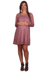 Lace Swing Maternity Dress