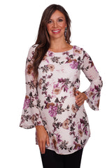 Bell Sleeve Floral Maternity Tunic