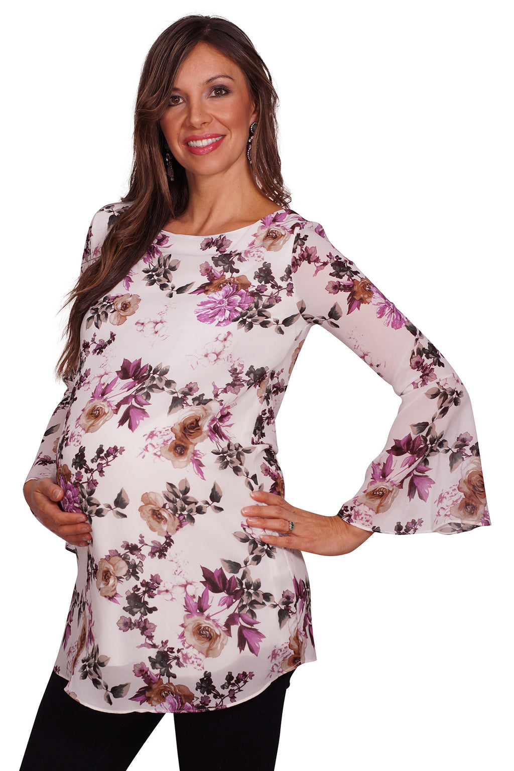 Floral Maternity Tunic - Mommylicious
