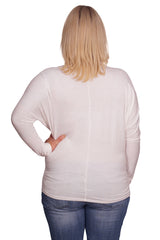 Long Sleeve Solid Plus Maternity Dolman