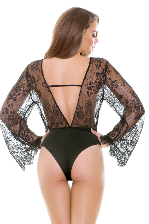 Sleeved Lace Romper