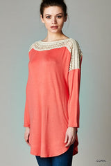 long sleeve maternity tunic