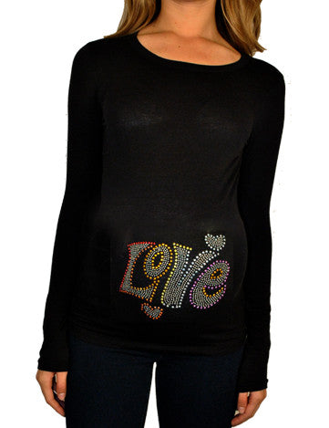 Plus Size Maternity T Shirts-Love Top