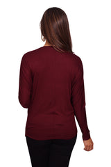 Long Sleeve Solid Maternity Dolman