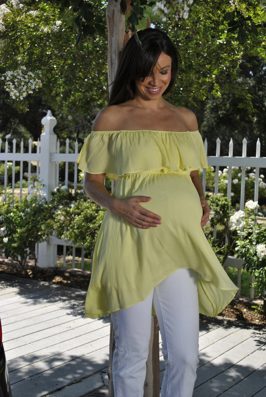 Ruffle Maternity Top - Mommylicious