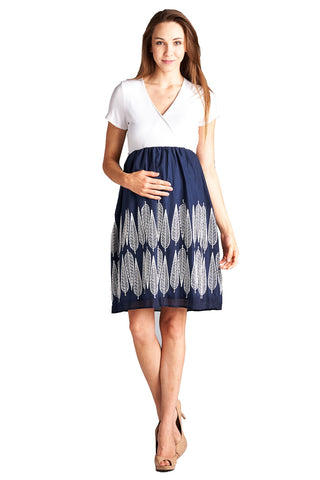 Feathered Maternity Dress