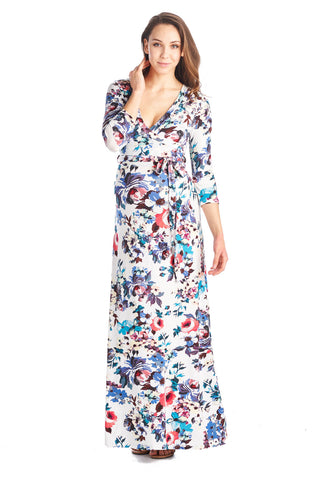 City Of Delights Floral Maternity Maxi Dress