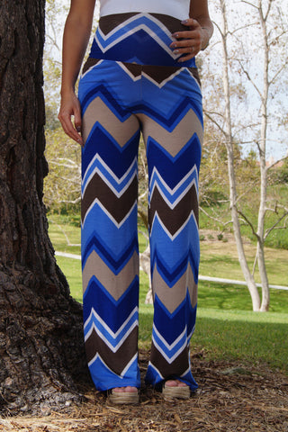 Easy Breezy Chevron Maternity Pants