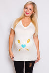 Heart and Arrow Graphic Maternity Top - Mommylicious