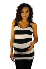 Striped Maternity Top - So Sienna Stripes