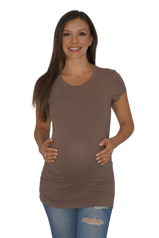 Back to Basics Crew Neck Maternity Top
