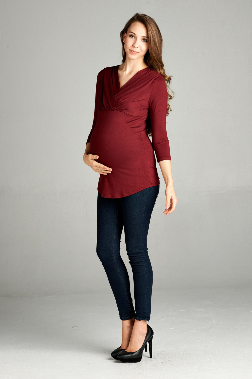 V Neck Maternity & Nursing Top - Mommylicious
