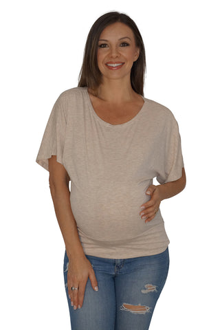 Catch a Tan Dolman Maternity Top