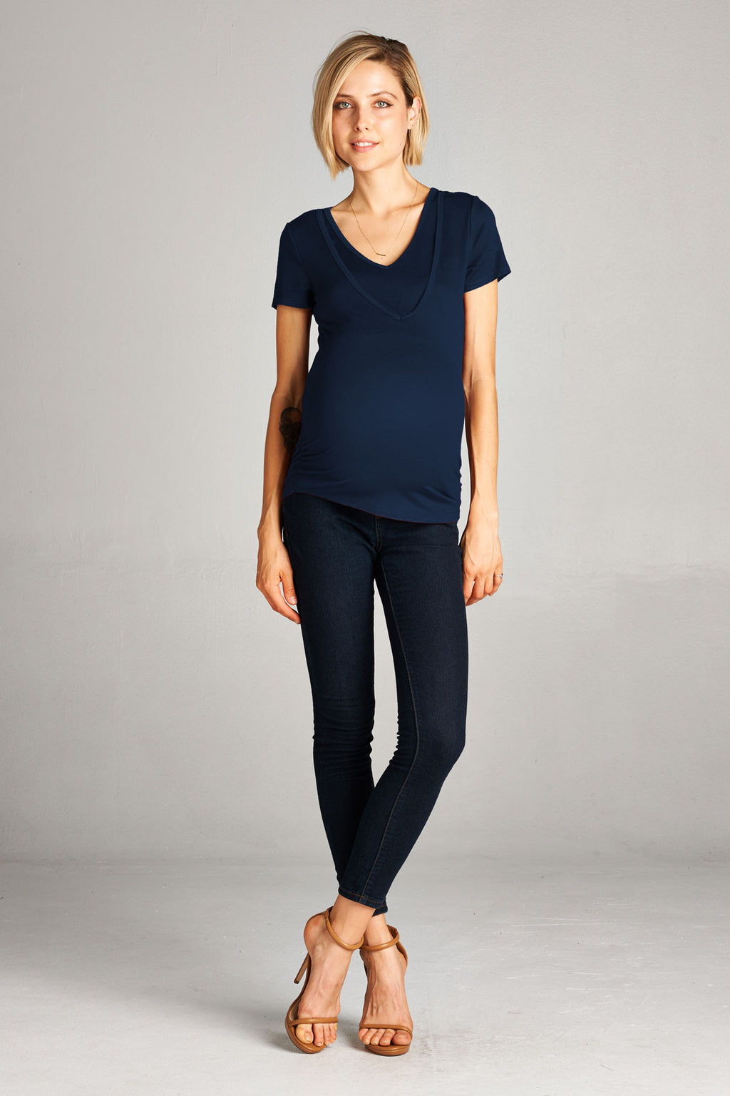 V-Neck Double Layer Nursing and Maternity Top