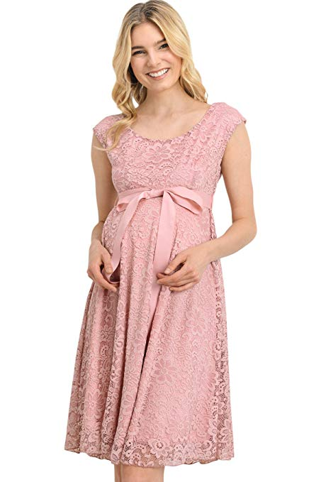 mauve maternity dress