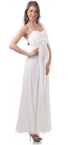 White Maternity Wedding Dress - Summer – Nestling & Co.