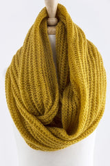 Skinny Cable Knit Infinity Scarf