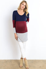 Long Sleeve Colorblock Nursing Tunic