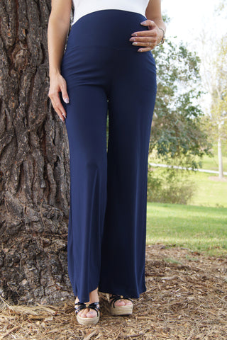 Easy Breezy Navy Maternity Pants
