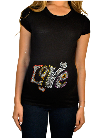 Black Love Maternity Top
